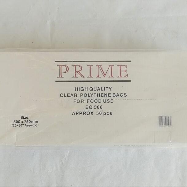 CLEAR POLYTHENE BAG 500 GAUGE