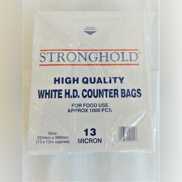 WHITE HIGH DENSITY COUNTER BAG (13 MICRON)