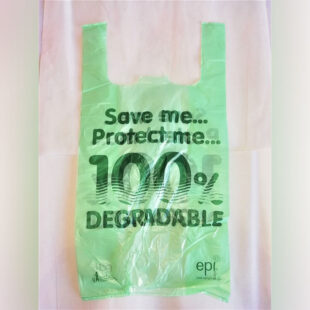 GREEN BIO-DEGRADABLE VEST CARRIER