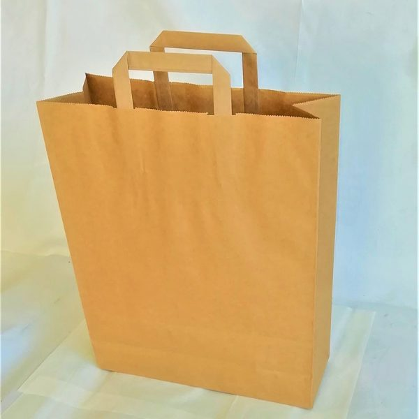 BROWN TAPE HANDLE BAG 32 x 12 x 40cm