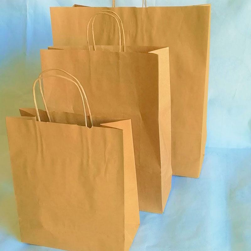 BROWN PURE KRAFT TWIST BAG