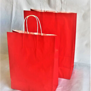 RED CARRIER BAG