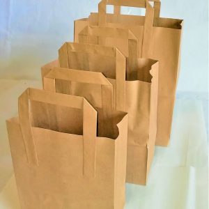 BROWN TAKEAWAY BAG
