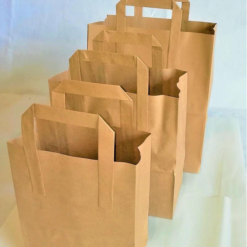 BROWN TAKEAWAY BAG
