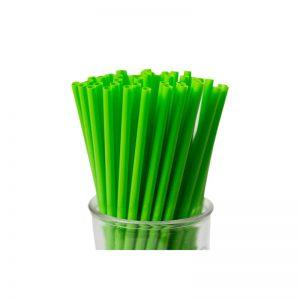 GREEN STRAIGHT BIO-DEGRADEABLE STRAWS