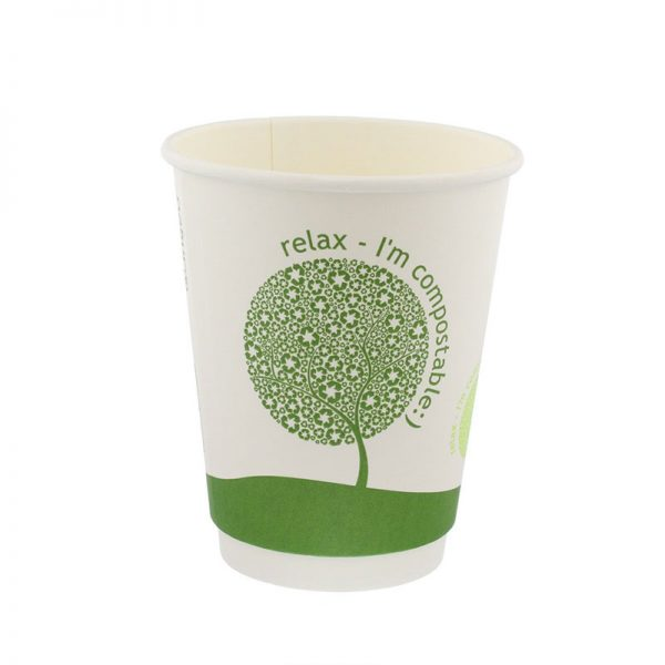 DOUBLE WALL COMPOSTABLE COFFEE CUP