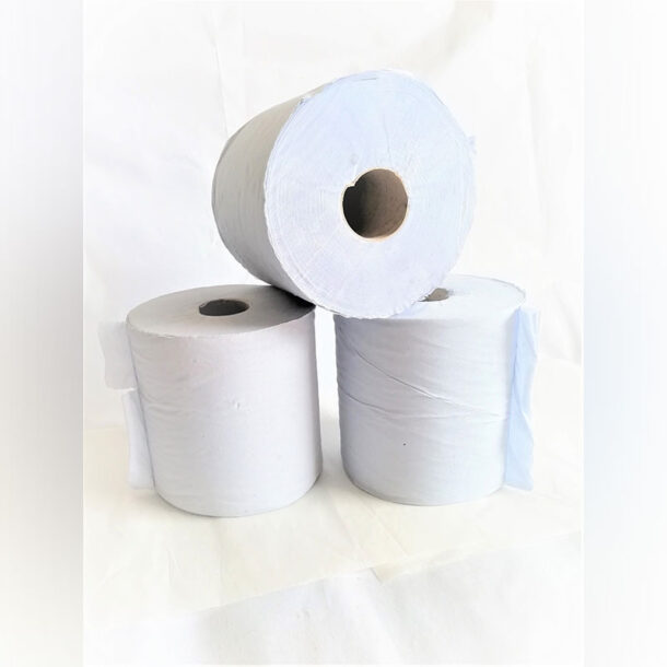 2 PLY PRISTINE BLUE CENTREFEED ROLL