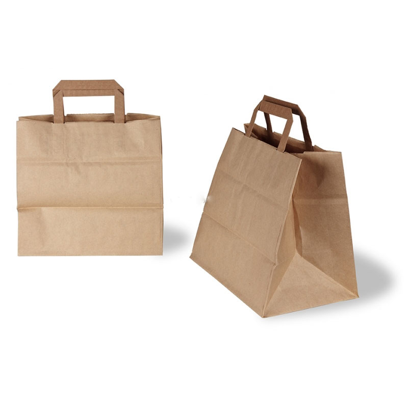 BROWN TAPE HANDLE BAG 32 x 22 x 27cm