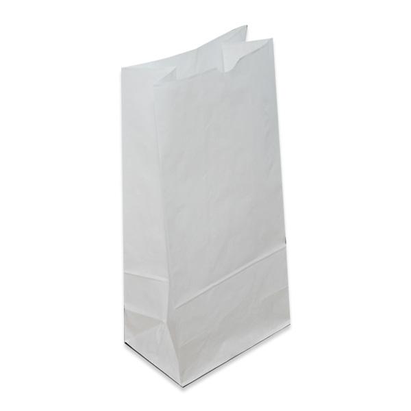 White SOS Kraft Paper Bag