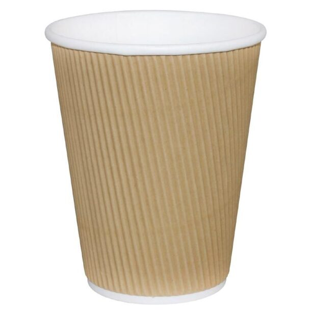 12OZ KRAFT RIPPLE WALL COFFEE CUP