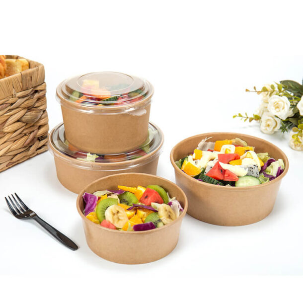 Kraft Paper Salad Bowl
