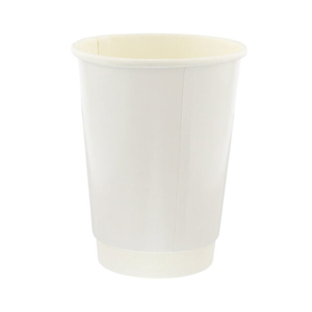 DOUBLE WALL WHITE COFFEE CUP