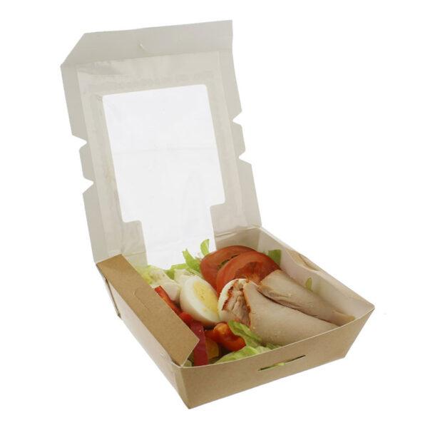 KRAFT SALAD BOX 190 X 140 X 40MM