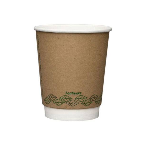 12OZ DOUBLE WALL BROWN COMPOSTABLE COFFEE CUP